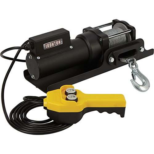 Ironton 120 Volt AC Powered Electric Utility Winch - 1500-Lb. Capacity, Galvanized Steel Aircraft Wire Rope