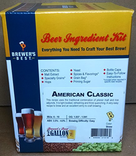 Home Brew Ohio B011WKPQJ6 FBA_Does Not Apply Brewer's Best One Gallon Home Brew Beer Ingredient Kit (American Classic), Yellow