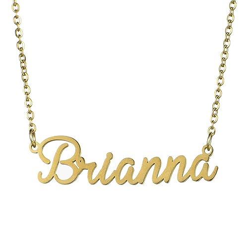 Name Halskette personalisiert, Name Halskette Kursive Schrift mit ...