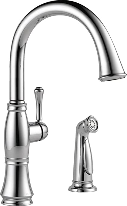 Delta Faucet 4297 Dst Cassidy Single Handle Kitchen Faucet With Spray Chrome