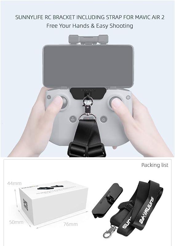Hensych Telecomando doppio gancio supporto con cinghia per Mavic Air 2 per appenderla Mavic Mini 2 accessori per droni con fibbia