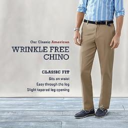 IZOD Men\'s American Chino Pleated Pant, Khaki, 38W x 34L
