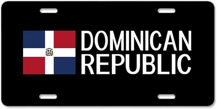 CafePress - República Dominicana: Dominic - Placa de matrícula de aluminio delantera personalizada: Amazon.es: Coche y moto