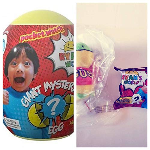 Ryan's World Mystery Egg Plus Gus 6'' Plush and 1 Mystery Figure