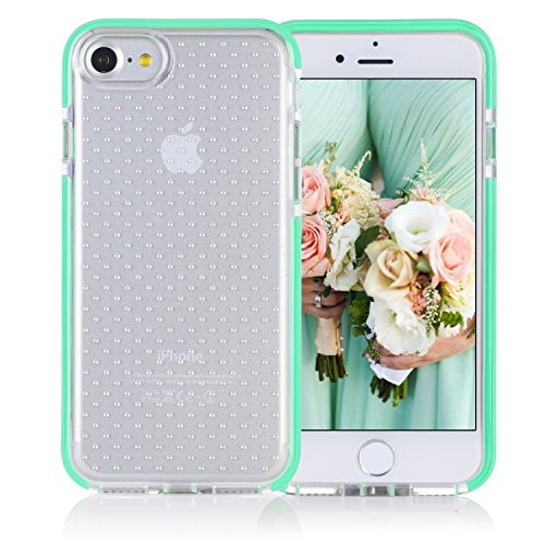 FYY Case for iPhone 8 / iPhone 7,[Patent Shockproof][Military Material] Ultra Slim Fit Hybrid Clear Bumper Case Soft Silicone Gel Rubber Shockproof Impact Resistance Cover for iPhone 7/8 Mint Green