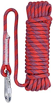 Aoneky Rock Climbing Rope, Outdoor Fire Escape Rescue Static Indoor Rope, Heavy Duty Rope, Diameter 10mm 12mm