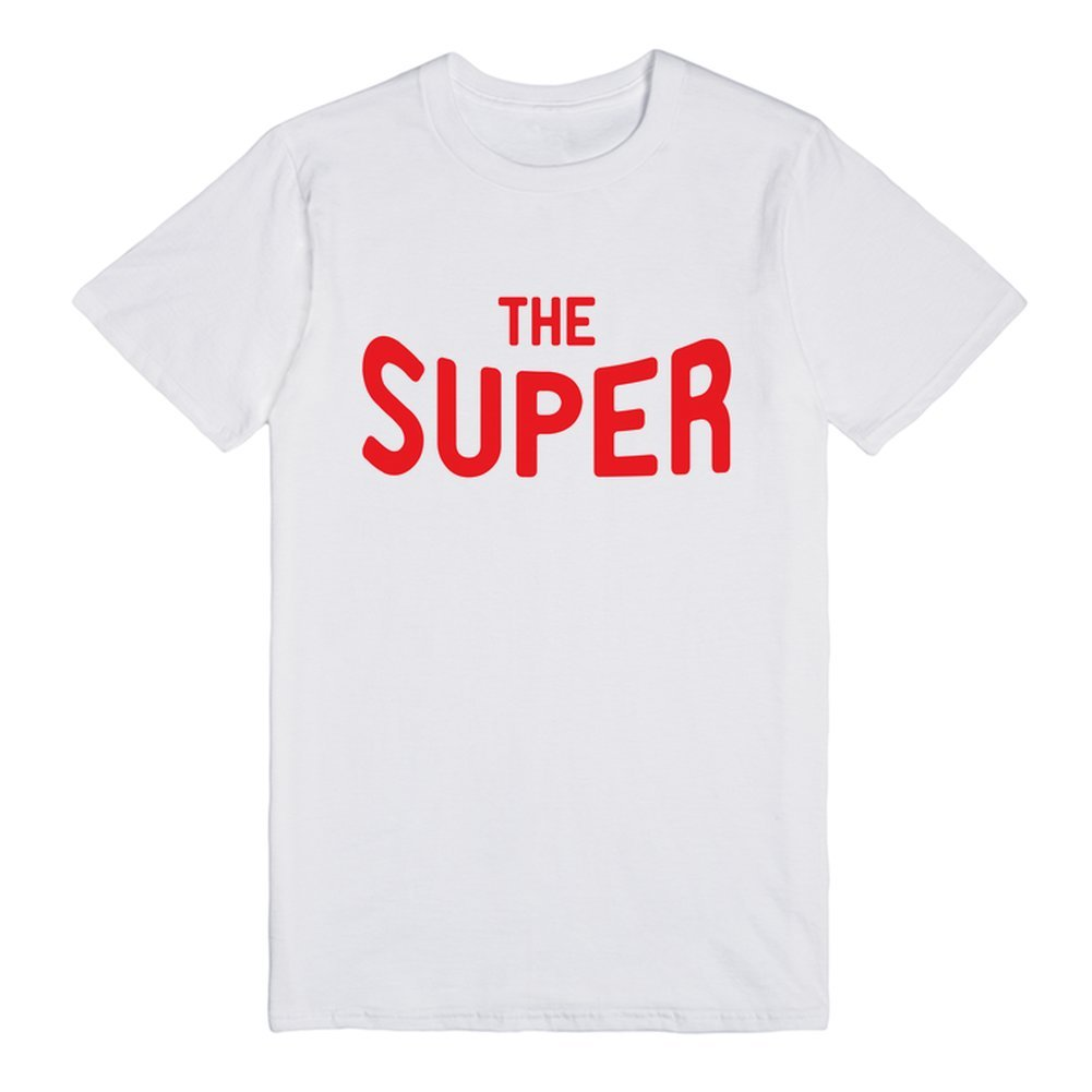 Red Words Super Man Exclusive Quality T-shirt for Men XS Shirt: Amazon.es: Ropa y accesorios