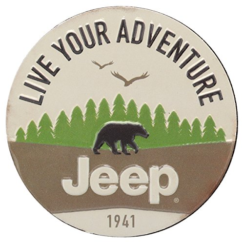 Jeep Magnets - Open Road Brands Live Your Adventure Embossed Metal Magnet