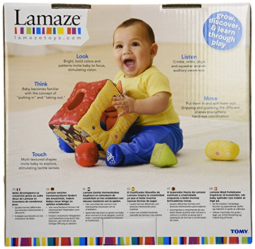 LAMAZE - Soft Sorter Toy, Help Baby Play and Learn to Match and Sort with Soft Shapes, Bright Colors, Fun Textures, 9 Months and Older