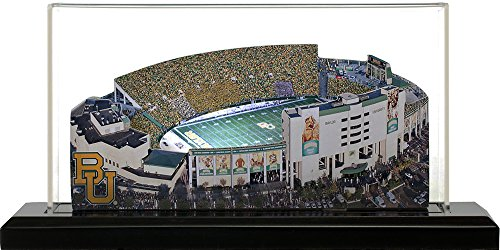 Baylor University Bears Floyd Casey Stadium, Small Lighted in Display Case