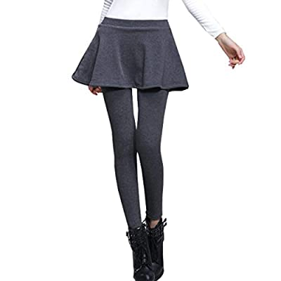AOMEI Women's Winter Warm Fleece Leggings Casual Yoga Athletic Skirted Legging Tights Pants at Women's Clothing store