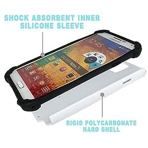 Pulsar ( Sun Summer Beach Blanc Grenouille Cartoon ) Samsung Galaxy Note 3 III N9000 N9002 N9005 híbrida Heavy Duty Impact pesado deber de protección a los choques caso Carcasa de parachoques [Ne