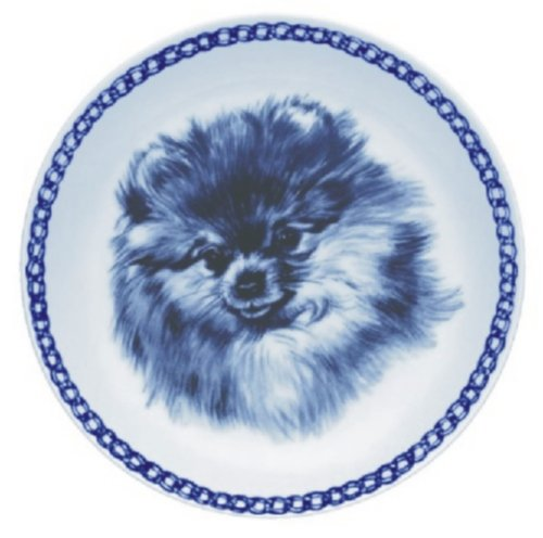 Lekven Pomeranian Design Dog Plate 19.5 cm  7.61 inches Made in Denmark NEW with certificate of origin PLATE  7537