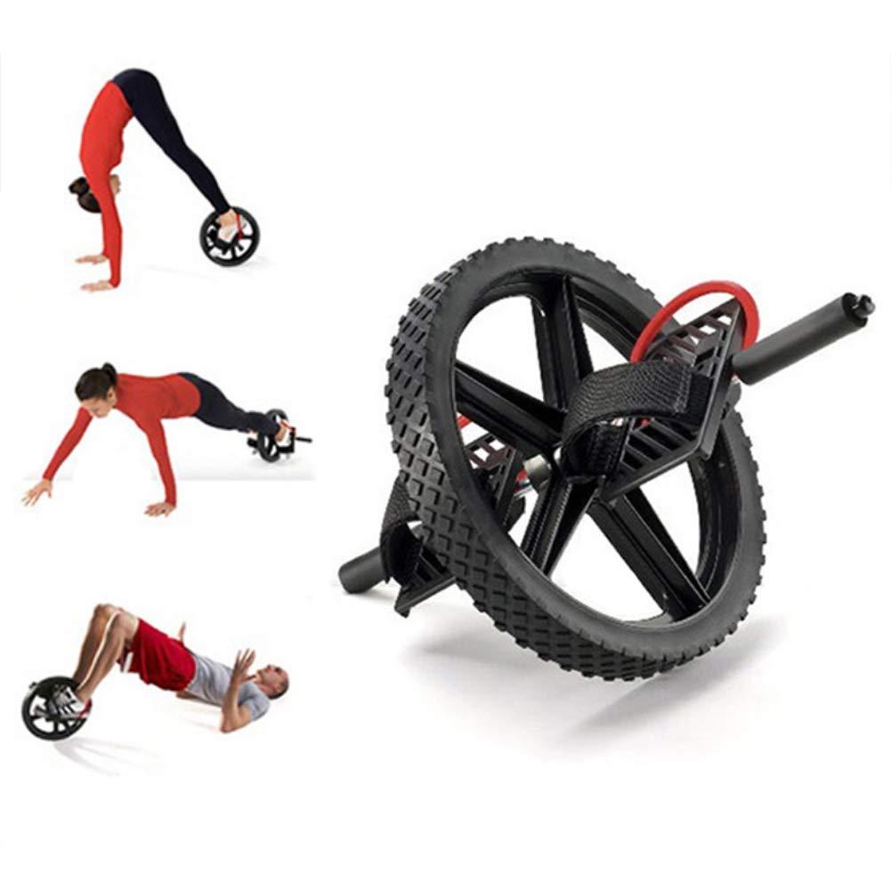 腹筋ローラー 腹部腹筋ホイールデュアルエネルギーホイールアンチスキッドハンドルコアエクササイズ体操ホームジム   B07PHFJ464