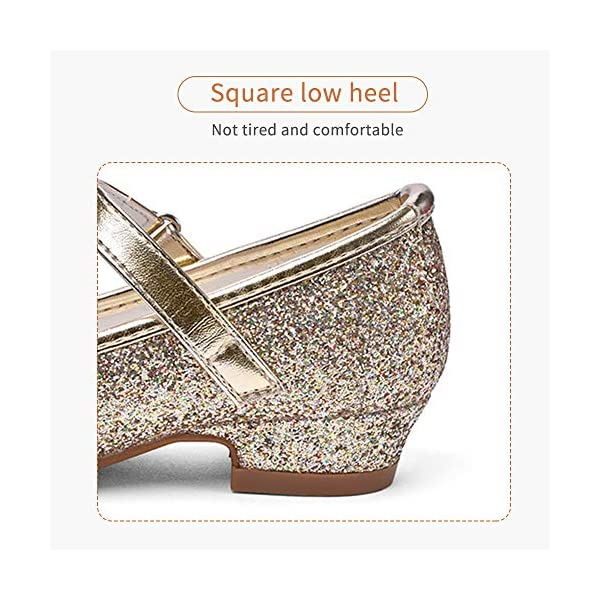 Girls Mary Jane Glitter Shoes
