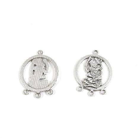 Antiguo tono de plata joyería Making charms conclusiones moda al ...