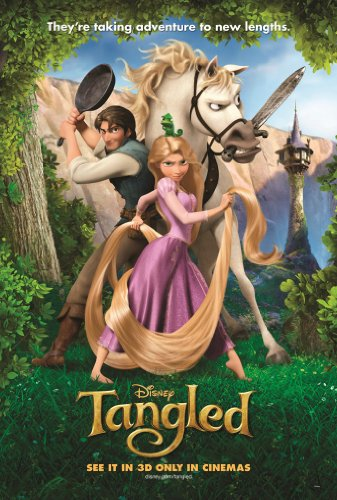 TANGLED MOVIE POSTER 2 Sided ORIGINAL 27x40 MANDY MOORE