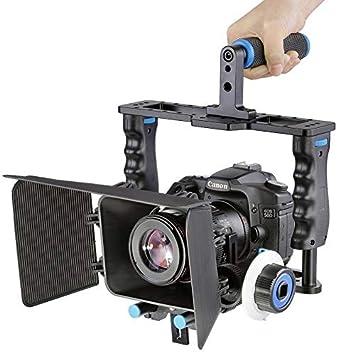 Yhuisen Manija Grande Jaula de la cámara de vídeo Estabilizador + ...