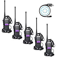 Baofeng UV-82 8W UHF VHF Dual Band Ham Amateur Radio Best Walkie Talkies(5 pack)