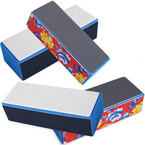 5 X Nail 4 Way ShIner Buffer Buffing Block Sanding File PS