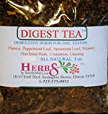 Herbs By Merlin DIGEST TEA (Demulcent Herbs for Gas, Ulcers) Organic Loose Leaf Tea 3 oz