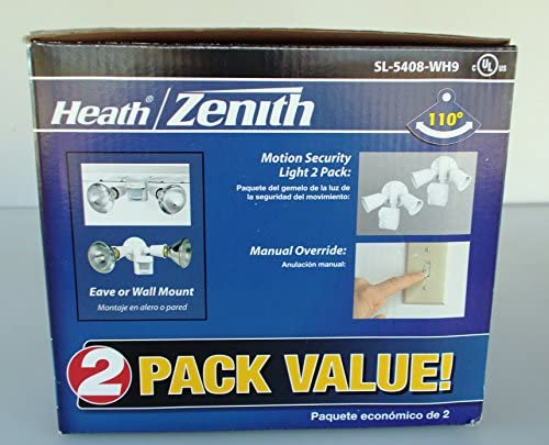 Heath Zenith 110-Degree Outdoor White Motion Sensing Security Light 2-Pack