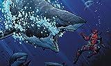 Deadpool Shark Playmat 24 x 14 inch