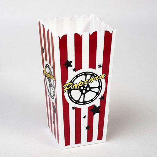 Plastic Popcorn Box Set of 4
