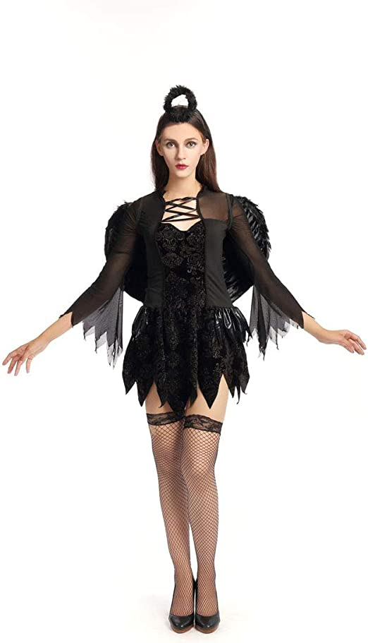 GAOJUAN Disfraz De Halloween Papel Adulto Jugando Bruja Negra con ...