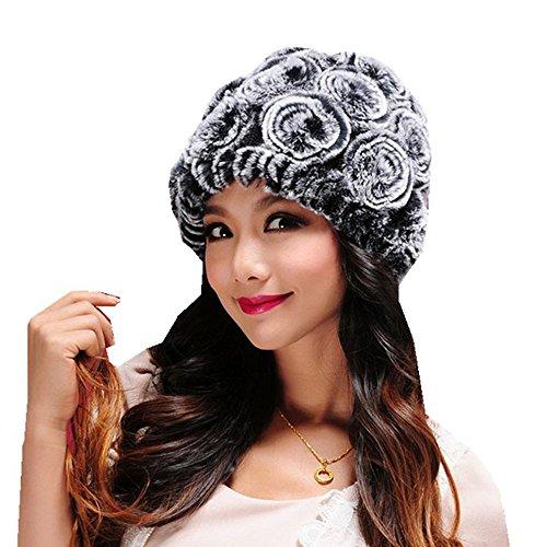 GREFER Women Fashion Hats Winter Ski Warm Caps Female Headgear Handmade (Snowboard Skull Cap Beanie Ski)