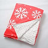 Weighted Blanket with Removable Cover by Weighted Idea - Calm Down from Anxiety, Insomnia, Sleep Better - Snowflake (60''x80'', 25 lbs)