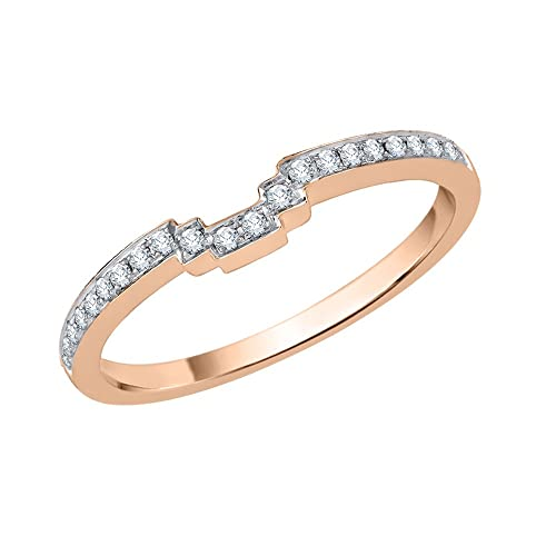 Diamond Wedding Band in 14K Yellow Gold 1//10 cttw, Size-3 G-H,I2-I3