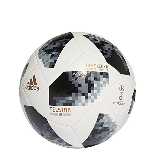 adidas FIFA World Cup Glider Ball White/Black/Silver Metallic, 4
