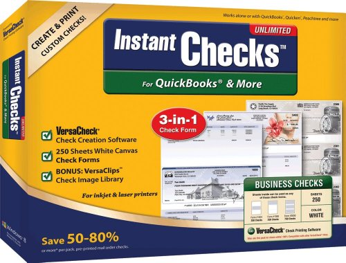Instant Checks Unlimited   White   Canvas   250 Sheets