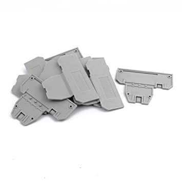 Amazon com: uxcell 10Pcs DIN Rail Terminal Block End Plate