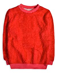 Generic Girls Long Sleeved Fluffy Jumper Top