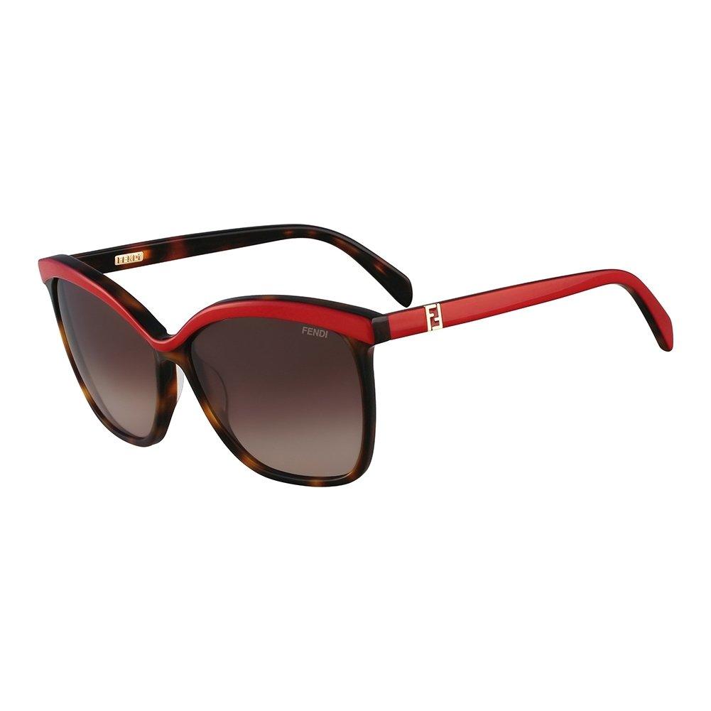 Amazon.com: Fendi FS5287-216 Ladies Vintage Havana and Red ...