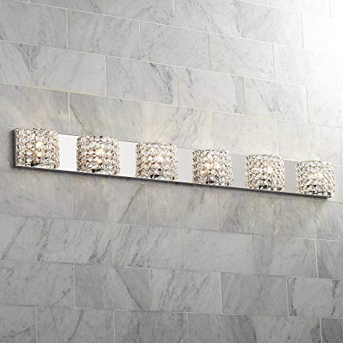 Cesenna Modern Wall Light Chrome Hardwired 54 3/4