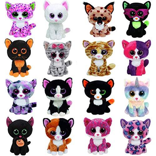 - Ty Beanie Boos Cat Plush Toy Muffin Sophie Pepper Lindi Kiki Frights Tabitha Jinxy Reagan Moonlight Big Eyes Stuffed Animals