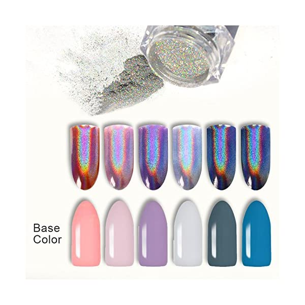 BORN PRETTY 9 Boxes Pearl Powder Nail Mirror Effect Colorful Nails Art Glitter Iridescent Metallic Manicuring Pigment 1G 3