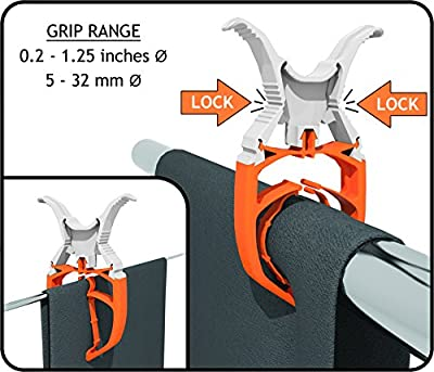 FIXCLIP - The Storm Proof & Lockable Clothespin - Keeps Your Towels Aboard - for Boats - Bowrails - Lifelines - Beach Chair - 6-Pack