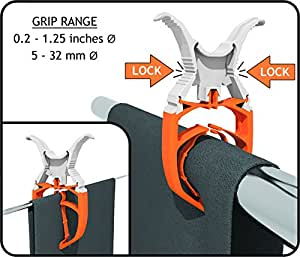 FIXCLIP The Storm Proof & Lockable Clothespin - Keeps your towels aboard - For Boats - Bowrails - Lifelines - Beach chair - RVs - Caravans tents - Tarps - Covers - Camping - Strollers - 6-PACK