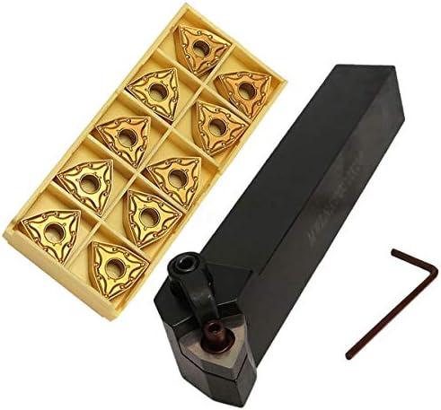 Binchil Set Von Drehwerkzeug Halter 20Mm MWLNR2020K08 + 10 WNMG0804 Hartmetall Einlagen