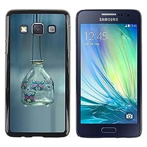 Smartphone Rígido Protección única Imagen Carcasa Funda Tapa Skin Case Para Samsung Galaxy A3 SM-A300 minimalism outside banka fon / STRONG