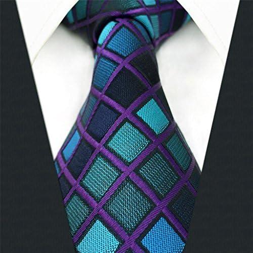shlax&wing Nuevo Diseño Azul a cuadros Corbatas Para Hombre Traje ...