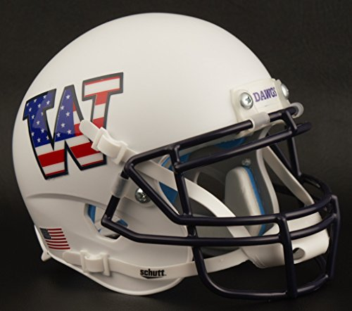(Schutt Washington Huskies NCAA XP Authentic Mini Football Helmet Flag Stars/Stripes)