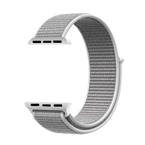 QIENGO Qifit New Nylon Sport Loop with Hook and Loop Fastener Adjustable Closure Wrist Strap Replacment Band for iwatch Apple Watch Series 1 /2 / - How Are Seashells Made