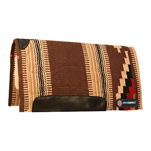 (Irideon T3 Woven Pad with Woolback Liner and Impact Protection Inserts, Brown/Tan)