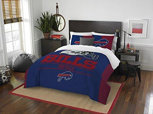 NFL Buffalo Bills Draft Full/Queen Comforter and 2 Sham Set