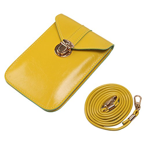 Solarfun Leather Mini Crossbody Shoulder Bags for Women Grils Roomy Cellphone Pouch